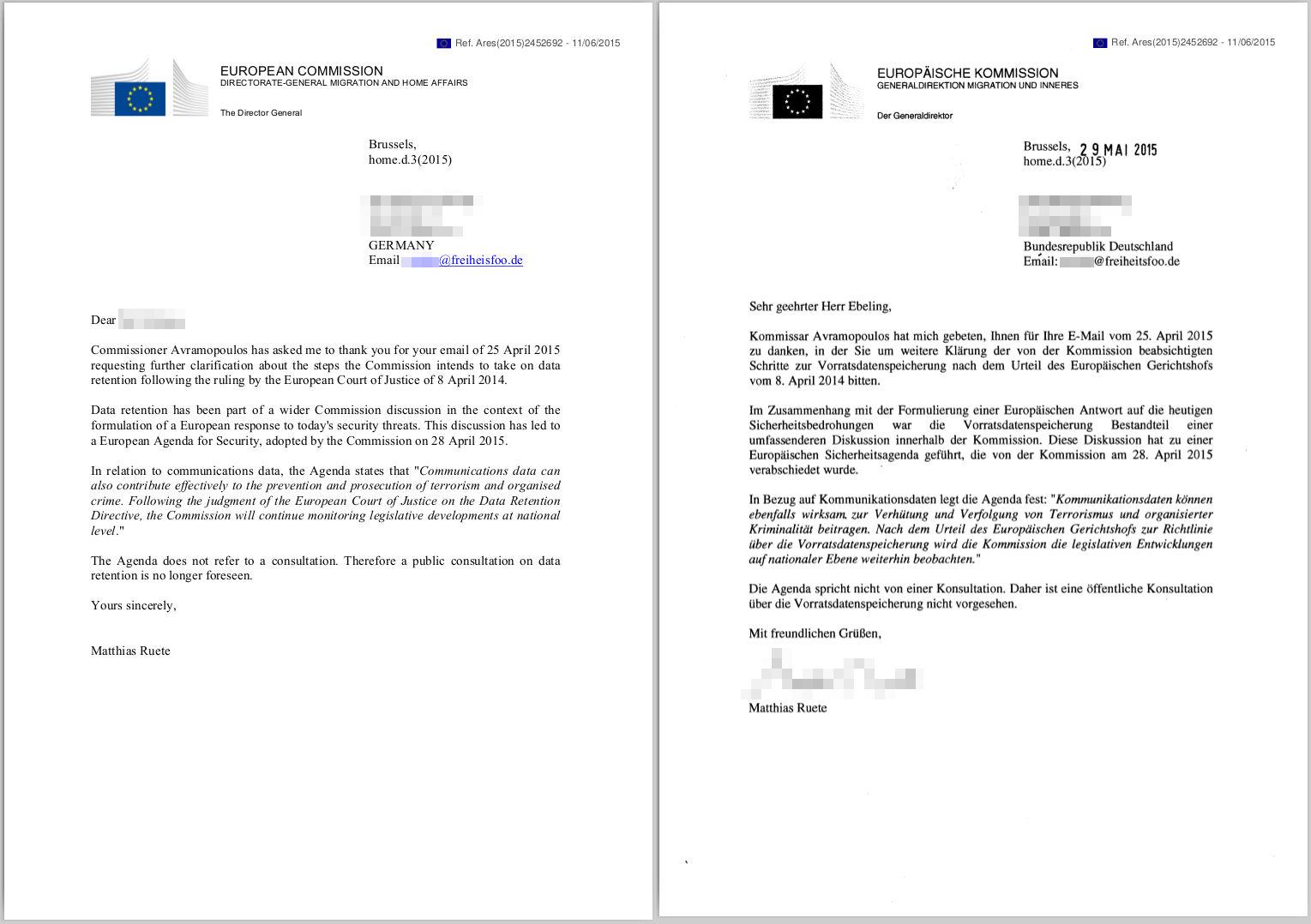 Richtig Briefe Schreiben Post : Eu kommission eröffnet nicht öffentliche beratungen zur